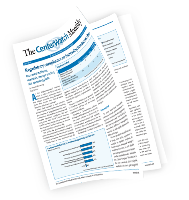 CenterWatch: Regulatory Compliance an In...