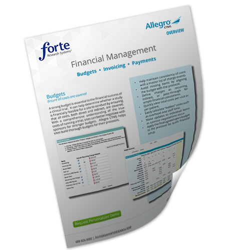 Allegro CTMS Financial Management Overvi...