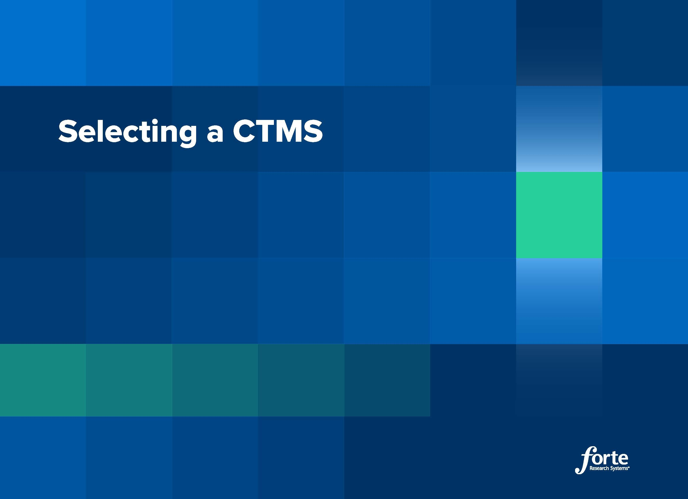 eBook: Selecting a CTMS